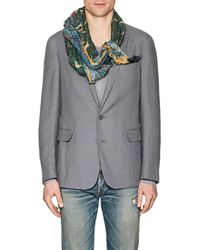 Drake's - Hunting-print Cotton-blend Voile Scarf - Lyst