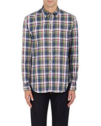 Barneys New York - Plaid Double - Lyst