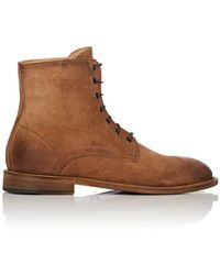 Barneys New York - Steven Washed Suede Chukka Boots - Lyst
