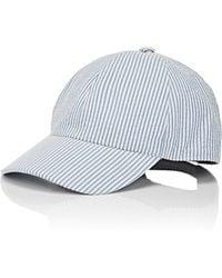 Barneys New York - Seersucker Baseball Cap - Lyst