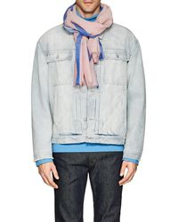 Barneys New York - Striped Cotton Voile Scarf - Lyst