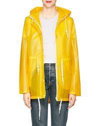 Barneys New York - Matte Hooded Raincoat - Lyst