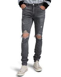 Amiri Thrasher Distressed Skinny Jeans - Gray