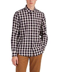 Barneys New York - Checked Cotton Shirt Size S - Lyst
