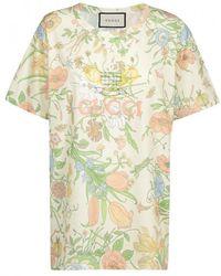 d419247f5014 Gucci Sequin Diamond Cotton T-shirt in Black - Lyst
