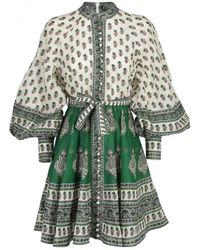 Zimmermann - Amari Emerald Buttoned Dress - Lyst
