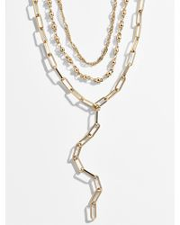 BaubleBar Diviana Layered Y-chain Necklace Set
