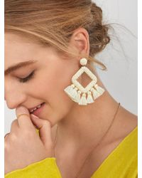 BaubleBar - Laniyah Fringe Drop Earrings - Lyst
