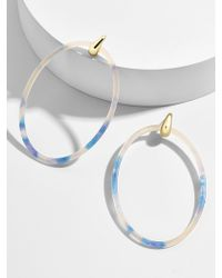 BaubleBar - Delaina Resin Hoop Earrings - Lyst