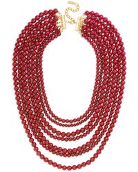BaubleBar - 'bold' Multistrand Beaded Statement Necklace - Lyst