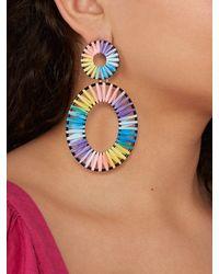 BaubleBar - Kiera Raffia Statement Earrings - Lyst