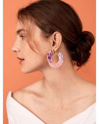 BaubleBar - Dessa Resin Hoop Earrings - Lyst