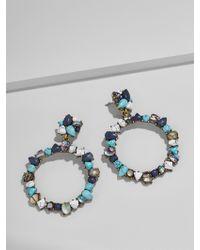 BaubleBar | Bellflower Hoop Earrings | Lyst