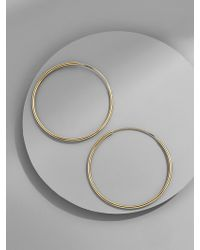 BaubleBar - Tempest 18k Gold Plated Hoop Earrings - Lyst