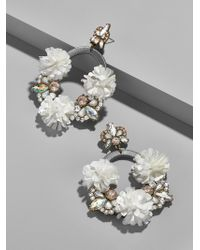 BaubleBar - Ice Lily Hoop Earrings - Lyst
