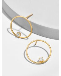 BaubleBar - Pietra 18k Gold Plated Hoop Earrings - Lyst
