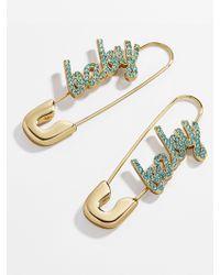 BaubleBar - X Montserrat Baby Safety Pin Earrings - Lyst