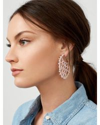 BaubleBar - Marquise Hoop Earrings - Lyst