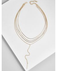 BaubleBar - Nevena Layered Y-chain Necklace - Lyst