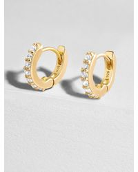 BaubleBar - Sirena 18k Gold Vermeil Huggie Hoops Earrings - Lyst