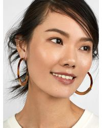 BaubleBar - Tassiana Resin Hoop Earrings - Lyst