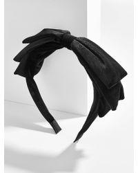 BaubleBar - Maryse Bow Headband-black - Lyst