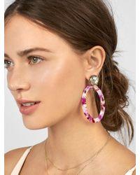 BaubleBar - Taliana Resin Hoop Earrings - Lyst