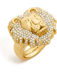 BaubleBar - Crystal Lion Head Ring - Lyst