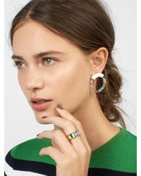 BaubleBar - Deann Resin Hoop Earrings - Lyst