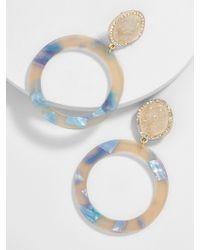 BaubleBar - Devinne Resin Druzy Hoop Earrings-beige - Lyst