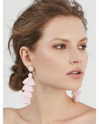 BaubleBar - Gabriela Stud Tassel Earrings-blush - Lyst