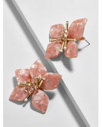 BaubleBar - Amarise Flower Resin Stud Earrings-blush - Lyst