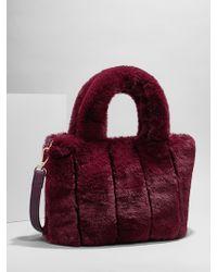 BaubleBar - Penny Faux Fur Crossbody Bag - Lyst