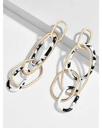 BaubleBar - Juliza Resin Linked Hoop Earrings - Lyst