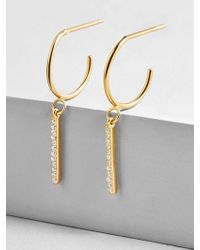 BaubleBar - Asta 18k Gold Plated Huggie Hoop Earrings - Lyst