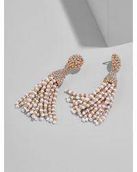 BaubleBar - Mini Piñata Tassel Earrings-white/rose Gold - Lyst