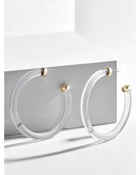 BaubleBar - Leia Lucite Hoop Earrings - Lyst