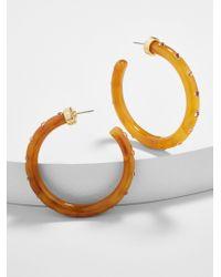 BaubleBar - Teryn Resin Hoop Earrings - Lyst