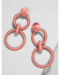 BaubleBar - Camielle Hoop Earrings-orange - Lyst
