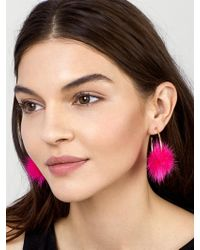BaubleBar - Fifi Fur Pom Pom Earrings - Lyst