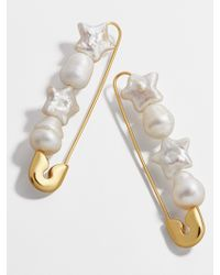 BaubleBar - Charisse Pearl Safety Pin Earrings - Lyst