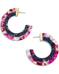 BaubleBar - Deisy Resin Hoop Earrings - Lyst