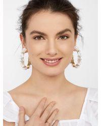 BaubleBar - Esme Flower Hoop Earrings - Lyst