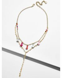 BaubleBar - Topaz Layered Y-chain Necklace - Lyst
