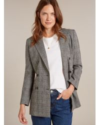 Baukjen - Mallory Blazer In Grey Mix Check - Lyst