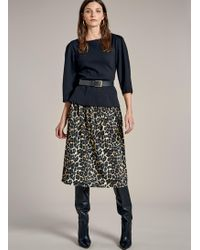 Baukjen - Abigail Leopard Skirt - Lyst