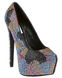 Steve Madden Dyvinal Pumps with Rhinestone Accents - Lyst
