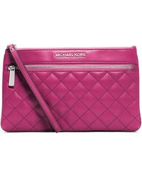 Michael by Michael Kors Large Selma Quilted Zip Clutch - Lyst