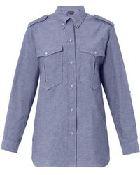 Isabel Marant Filipa Flecked Chambray Shirt - Lyst