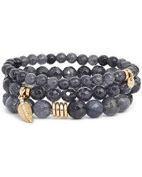 Sequin - 'color Karma' Bead Stretch Bracelet - Lyst
